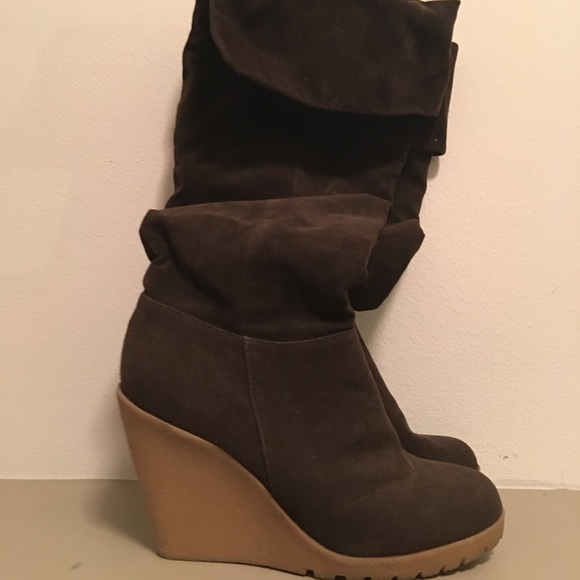 783605707f1 Forever 21 Shoes - Forever 21 Brown Suede Tall Boots